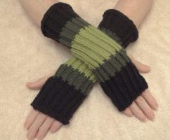 Shades of Green Fingerless Gloves by KarensKreationsToday