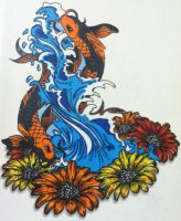 Pisces Sign Tattoo Design / Colored by Push-It-Art