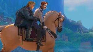 Hans + Kristoff - Hansoff riding into the sunset by cdpetee