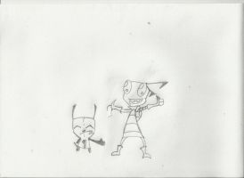 gir and zim request by Dysfunctional-H0rr0r