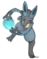 Lucario used Aura Sphere by Kiytt