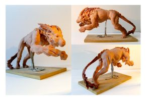 Antelope Lion by seraphxviii