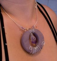 - Purple Themed Necklace 2 - by IskaDesign