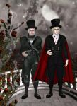 Count Nosferatu and Jacob Marley by oldhippieart