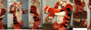 Arcanine costume(Muscle suit) by ArtSlavefursuits