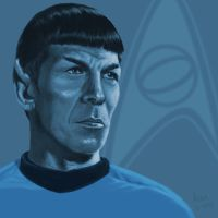Star Trek TOS portrait series 02 - Spock - Nimoy by jadamfox