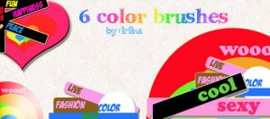 6 color brushes by iriina