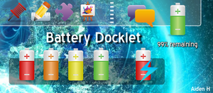 Battery Docklet for ObjectDock by aidenh