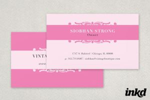 Pink Vintage Business Card by inkddesign
