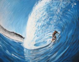 Surfing the Barrel by BondArt