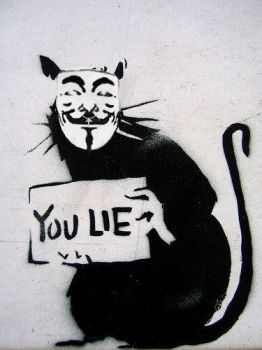 Banksy: Anonymous III by lokiquipped