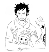 Trafalgar Law and Chopper by Neonroze
