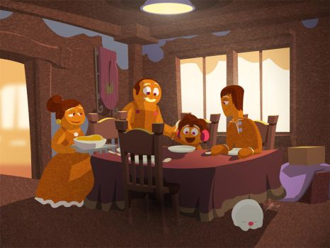 Gingerbreadman Dinnertable by andrewk