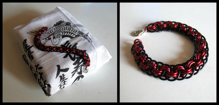 Evil Viper Doubled (Viper Basket bracelet) by JeiThings