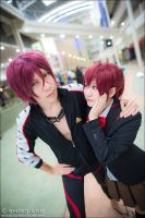 Jcos'13 Day 2 - Matsuoka Rin and Gou by Kurayamiii
