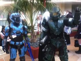 Anime LA 2014 Photos! Master Chief and Kat OWO by Shadow00018