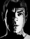 Spock in gray tones by ThestralWizard