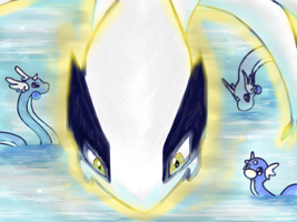 Lugia - A cruise with the dragons by Kboomz