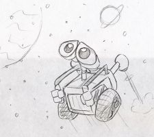 Wall-e in space by Mickeymonster