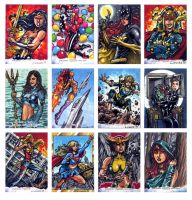 DC Comics Women of Legend sketch cards by Kapow2003