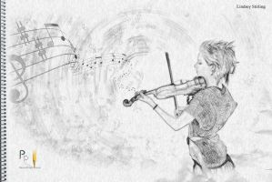 PencilPixels-lindsey stirling1 by PencilComic
