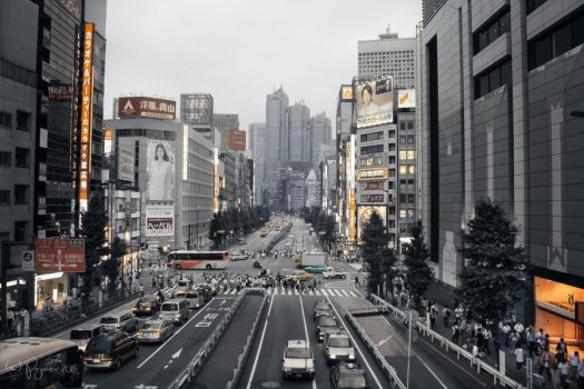 Tokyo City Life by Pajunen