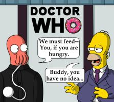 Homer Who meets the Ood by Metallicfire0