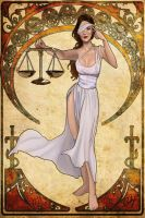 Astraea. Justice Goddess Nouveau by phoenixnightmare