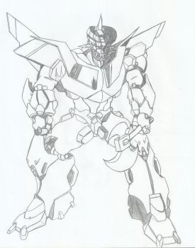 Dai-Mazinger with battle axe by RyugaSSJ3