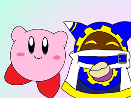 Kirby and Magolor by Rotommowtom