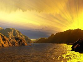 another terragen sunrise by aperson4321