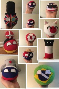 Favorite plushies collage by What-is-that0-o