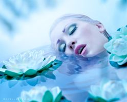 Drowning with water lilies by Ryo-Says-Meow