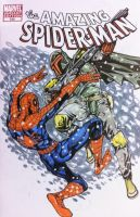 Boba Fett vs Spiderman Sketch from Megacon by daxiong