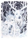 New winter in Mirkwood. by Candra