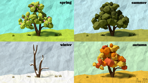 4 Seasons [LowPoly] by Mezaka