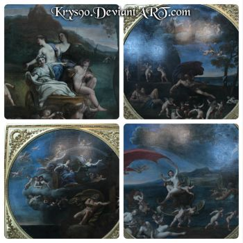 Paintings of The four elements Francesco Albani by Khrys90