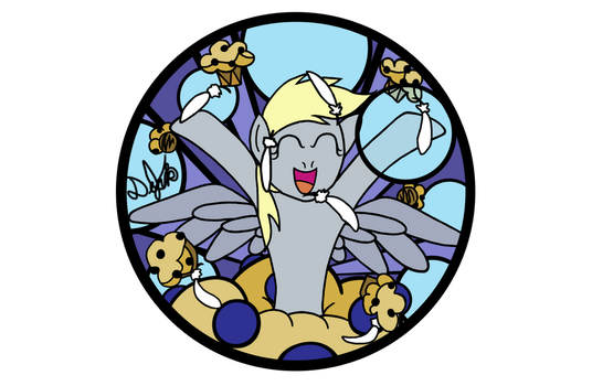 Derpy Hooves PURPLE Design for Stained Glass by DevicTemple