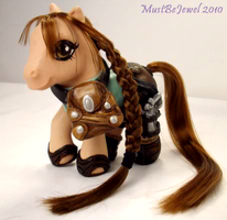Lara Croft Tomb Pony by customlpvalley