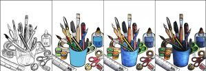 Pens and pencils and stuff! by aneesah