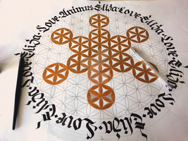 Flower of life - Eliza, Love , Animus Calligraphy by Milenist