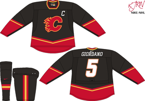 Calgary Flames Alternate V1 by thepegasus1935