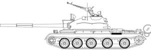 T-62 Template by PanzerschreckLeopard