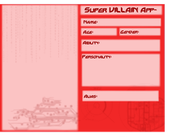 Villain Application Sheet by YourFaceLooksFunny