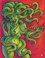 Medusa on Red by rawjawbone