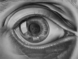 Eye with Skull - M.C. Escher by eskimo30787