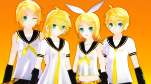 Kagamine Family by ShootingStarBlue