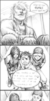 comic - attitude / sketch 09012013 by dzioo