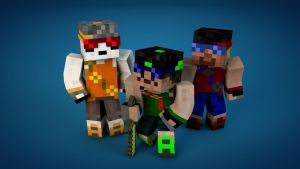 Minecraft swag skins by Robot-Panda22