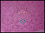 Piece of Heart Necklace and Earrings by VioletValhalla
